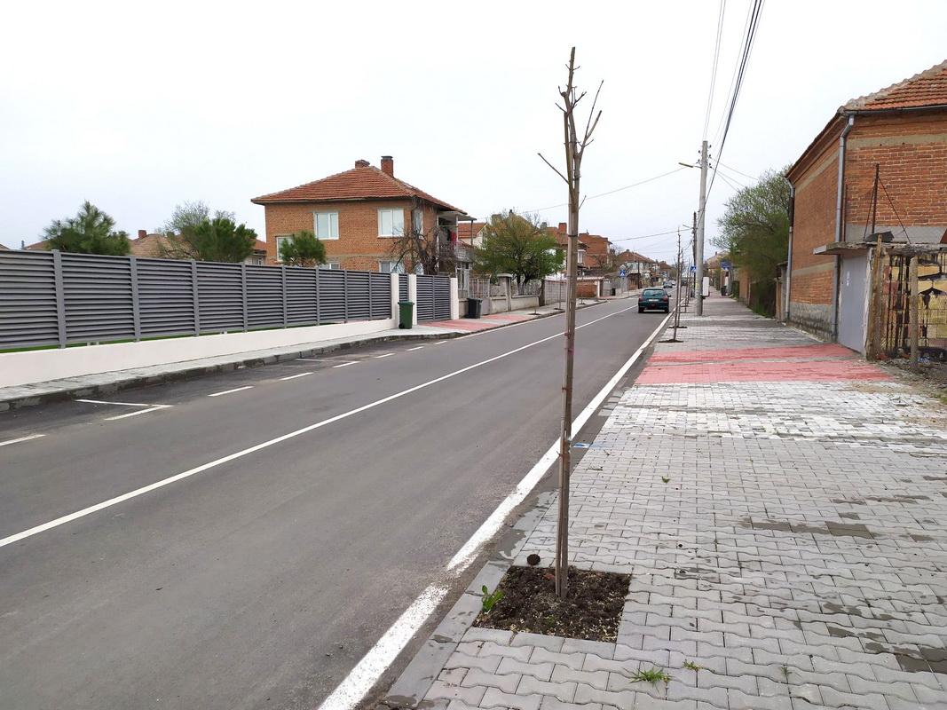 Община Елхово засади близо 200 дръвчета по четири от обновените улици в Елхово